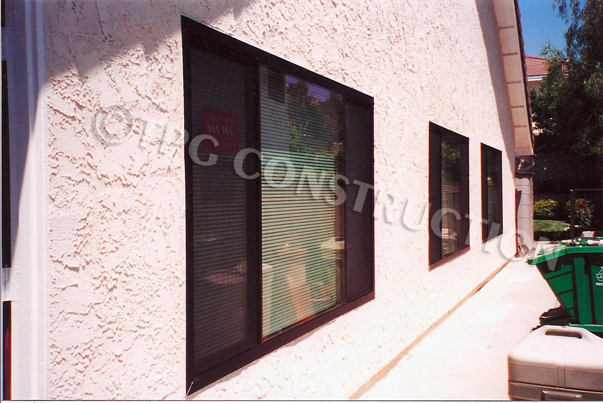 Replacement milgard aluminum slider windows in stucco for Replacement slider windows